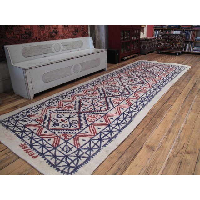 A particularly handsome Central Anatolian felt rug - felt technique involves matting, condensing and pressing wool fibers,...