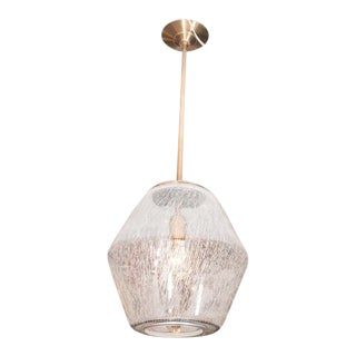 Etched Glass Globe Pendants For Sale