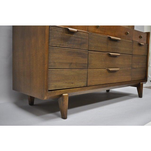 Danish Modern Century Furniture Mid-Century Modern Walnut China Cabinet For Sale - Image 3 of 12