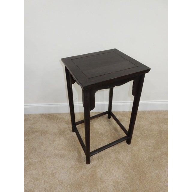 Antique Chinese Zitan Wood Side Table - Image 9 of 11