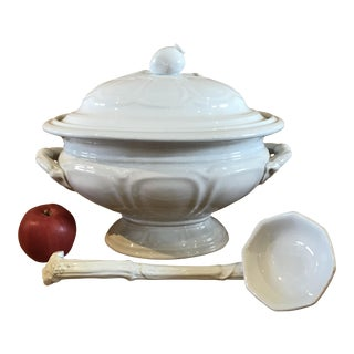 C Meigh & Sons White Ironstone Tureen