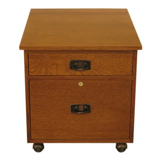 1990s Stickley Mission Oak Arts & Crafts Style File Cabinet For Sale