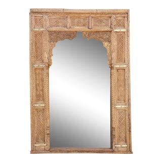 Antique Arched Haveli Floor Mirror For Sale