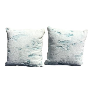 Custom Made Pillows in a Plush Cotton Fabric - a Pair For Sale