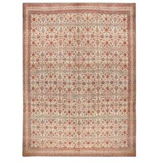 Antique Lavar Kerman Carpet For Sale