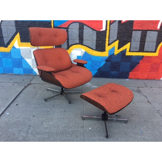 Mid-Century Lounge Chair & Ottoman - Image 2 of 5