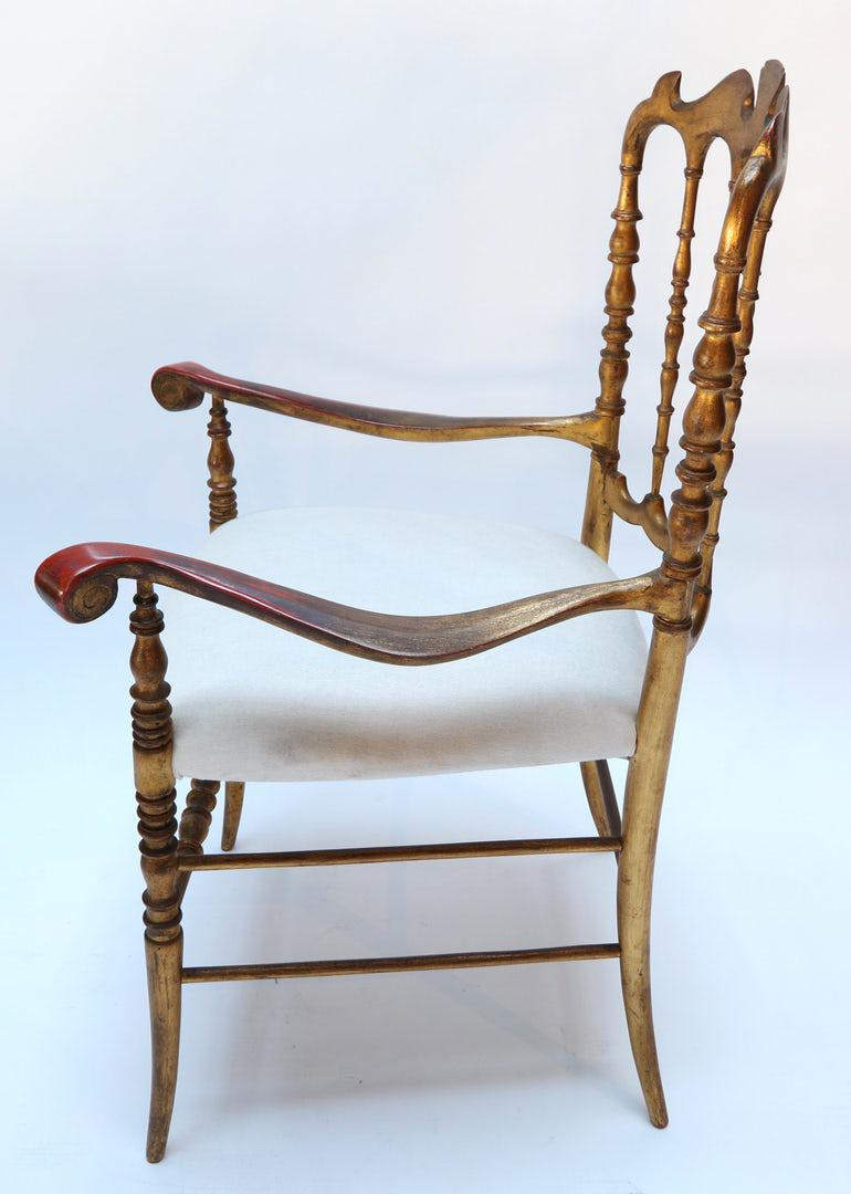 Ornate Gilded Chairs   A Pair