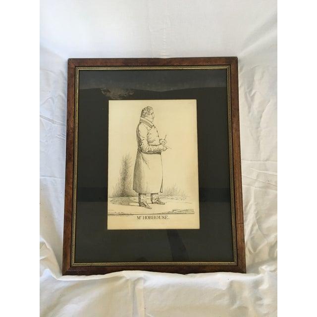 """Vintage """"Mr. Hobhouse"""" Male Dandy Portrait Lithograph - Image 2 of 4"""