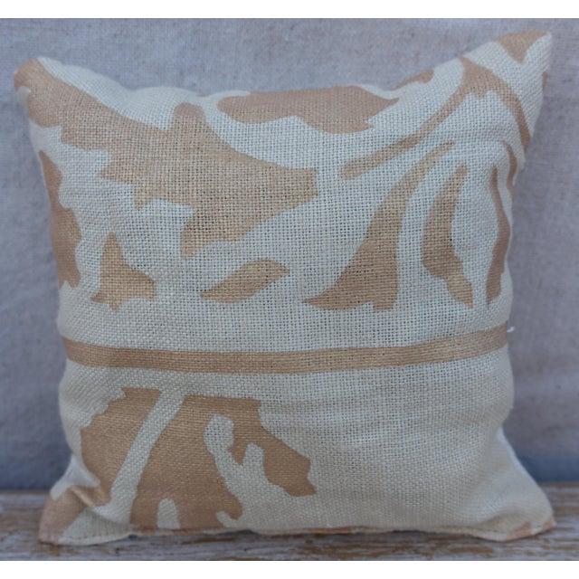 Traditional Custom Linen Stenciled Lavender Sachet For Sale - Image 3 of 3