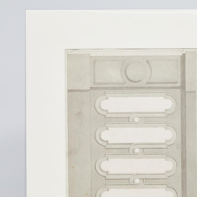 This is an early 20th century charcoal drawing of an architectural detail from France.