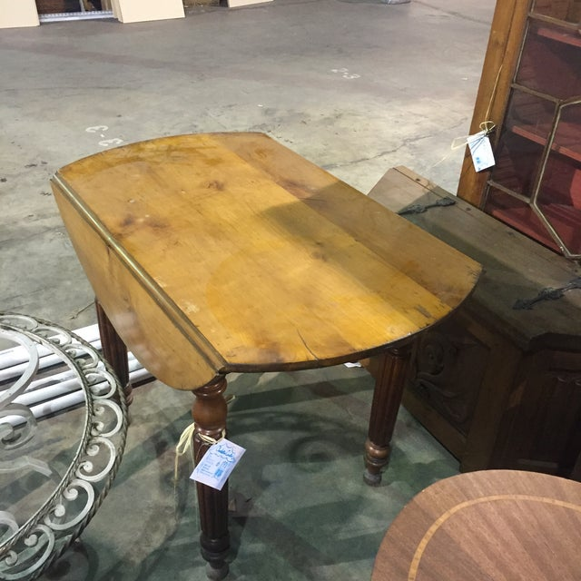 French Drop Leaf Cherry Table - Image 3 of 3