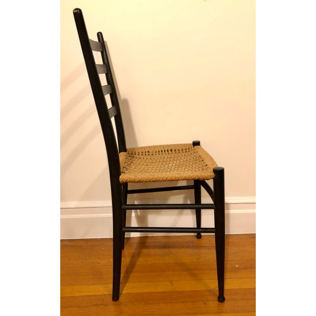 Mid Century Modern Gio Ponti Black Side Chair For Sale In Boston - Image 6 of 8
