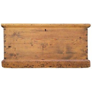 19th Century Primitive Pine Trunk For Sale