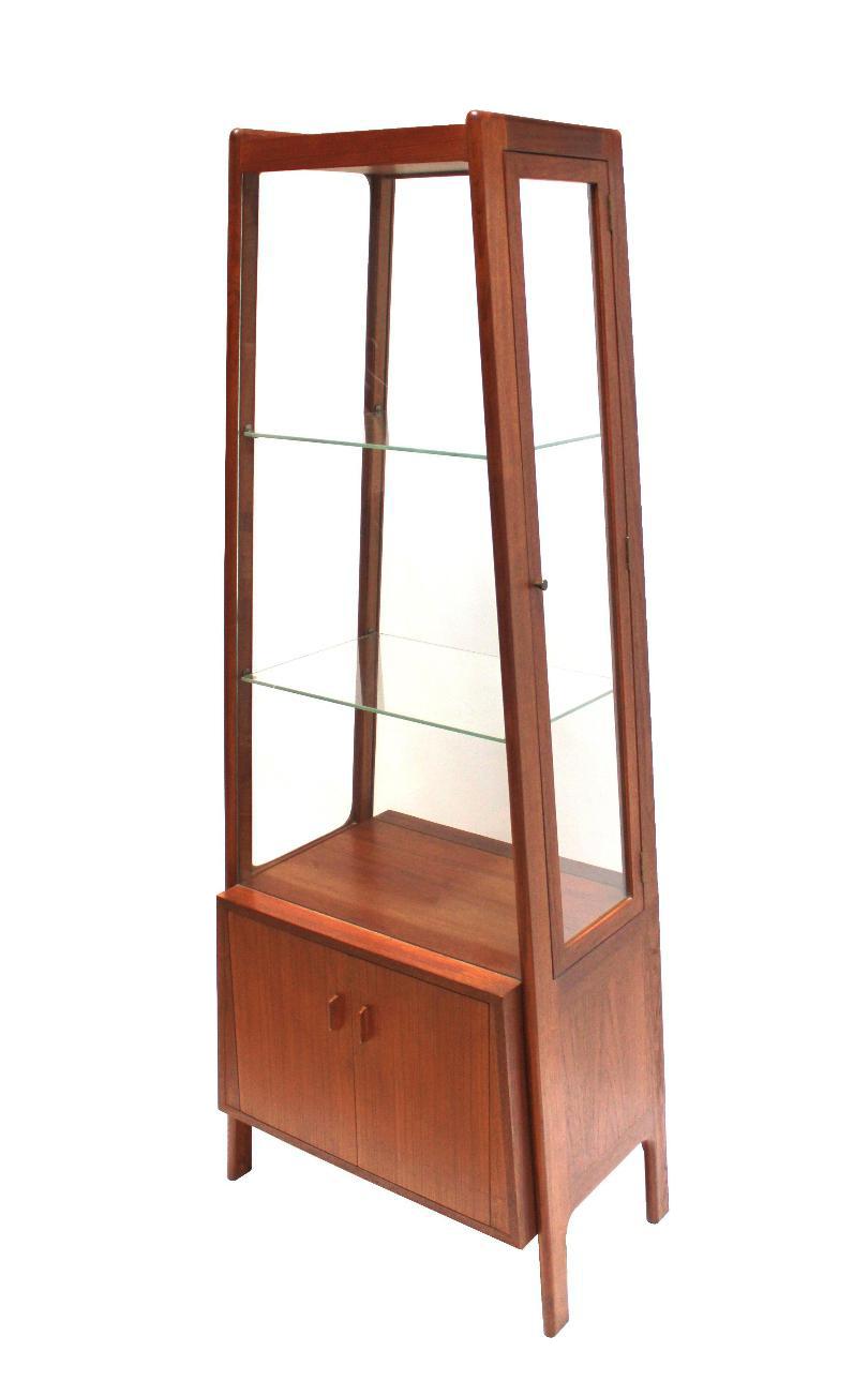 Hans Wegner 1950s Teak U0026 Glass Curio Cabinet