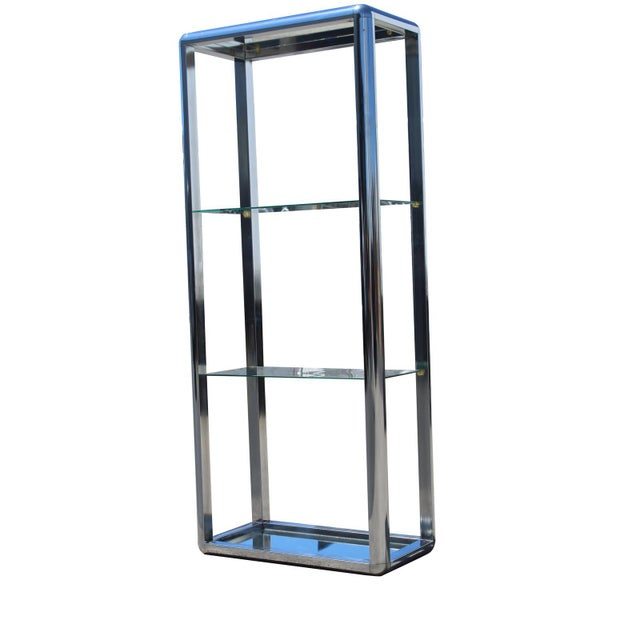 Industrial 1970s Chrome Mirrored Display Case Stand For Sale - Image 3 of 13