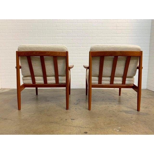 Arne Vodder Arne Vodder Teddy Faux Fur Danish Modern Lounge Chairs - a Pair For Sale - Image 4 of 11