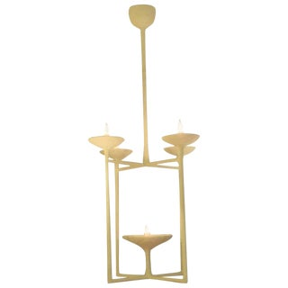 Custom 5-Arm Plaster Fixture in the Giacometti Manner For Sale