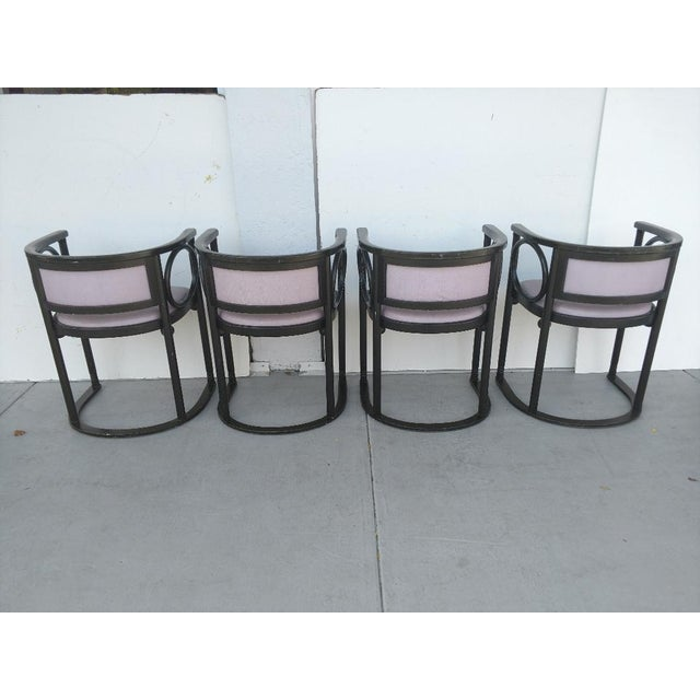 Vintage Joseph Hoffmann Style Wrap-Around Armchairs - Set of 4 For Sale - Image 4 of 12