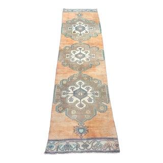 Turkish Tribal Anatolian Floor Rug - 3′1″ × 12′4″ For Sale