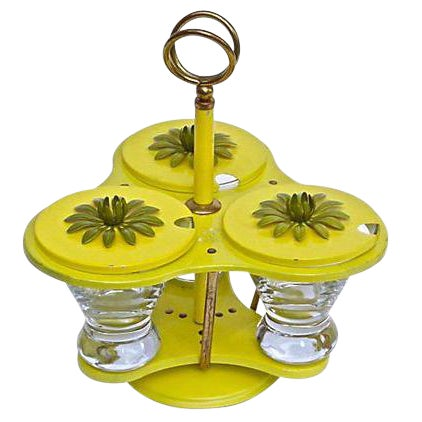Mid-Century Rotating Condiment Tray - Set of 3 For Sale