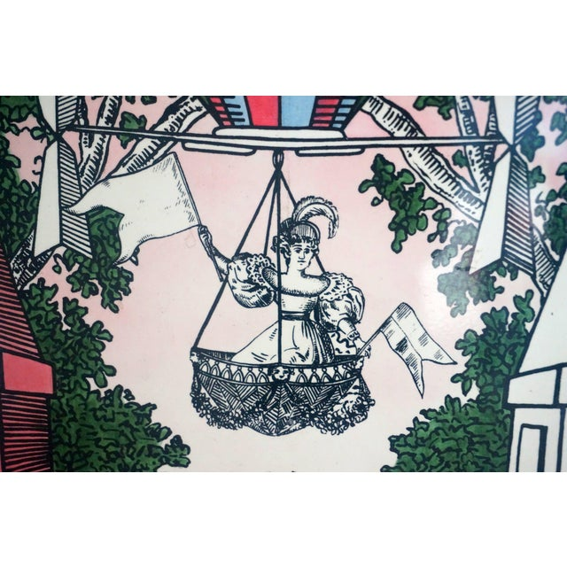 Mid 20th Century Mid-Century Hollywood Regency, Fornasetti Umbrella Stand, Hot Air Balloon Motif For Sale - Image 5 of 11