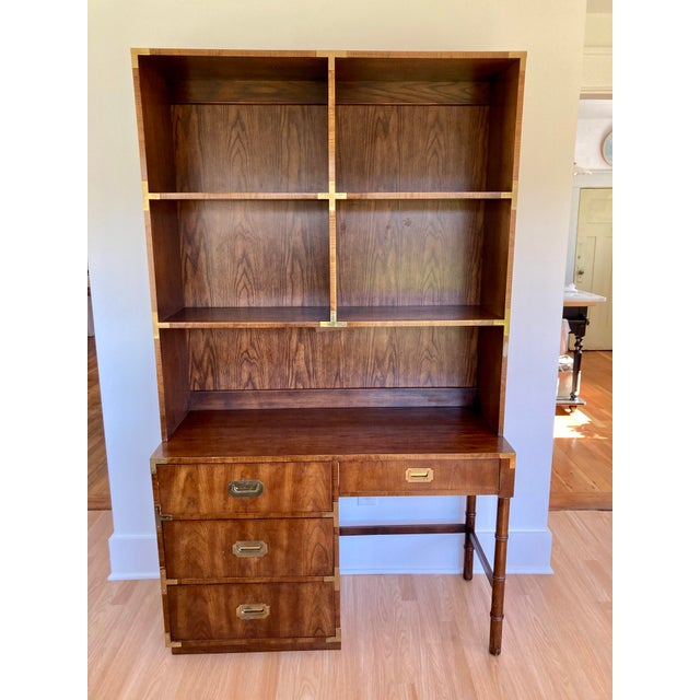 Late 20th Century Dixie Campaign Desk With Hutch For Sale - Image 13 of 13