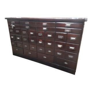1950s Vintage Shaw Walker Furniture Co Filing Cabinet For Sale