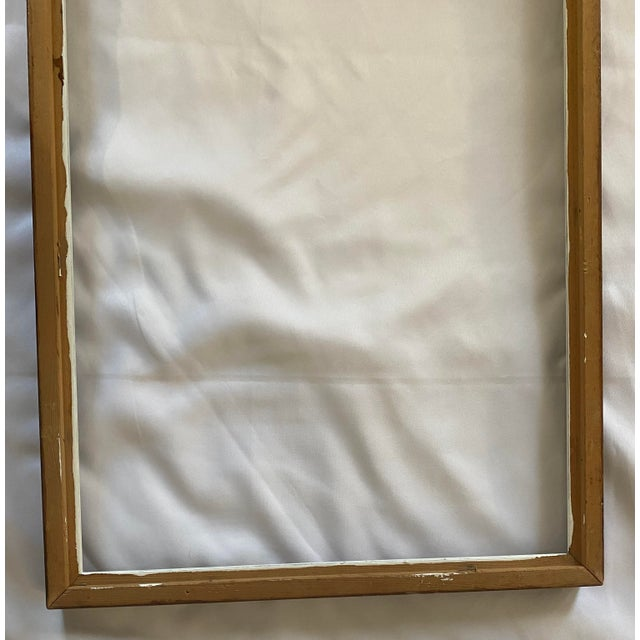 Mid 20th Century Traditional Wood Art Frame With White Accents For Sale - Image 9 of 11