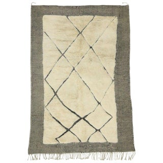 "Moroccan Asymmetrical Design Berber Rug - 6'9"" X 9'10"" For Sale"