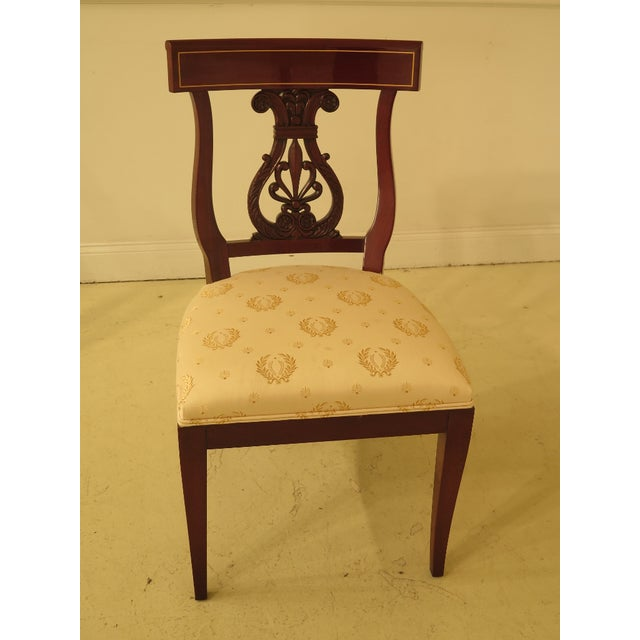 1990s Vintage Kindel Regency Mahogany Dining Room Chairs- Set of 8 For Sale - Image 9 of 13