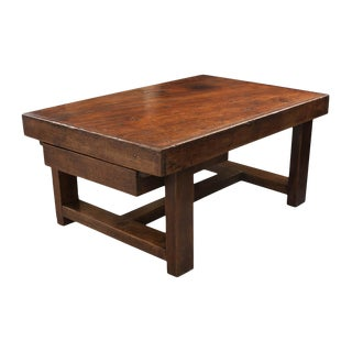 French 19th Century Provincial Oak Low Table For Sale