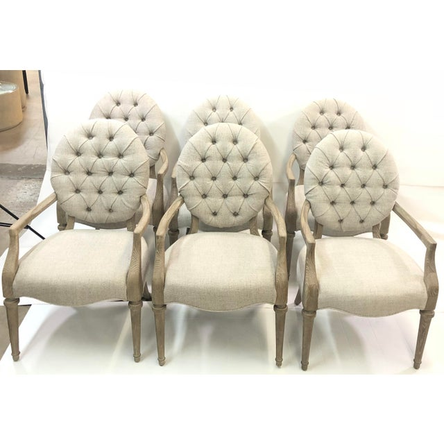 Contemporary Contemporary Tufted Upholstered Armchair For Sale - Image 3 of 9