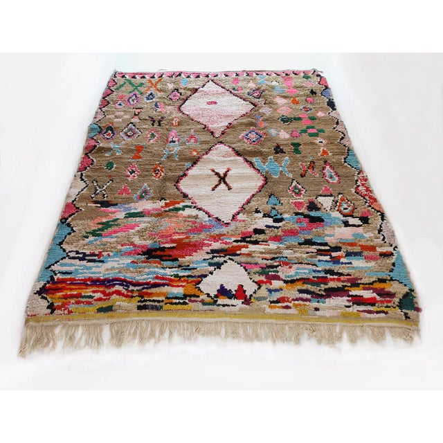 2010s Moroccan Boucherouite Rug - 4′6″ × 6′5″ For Sale - Image 5 of 13