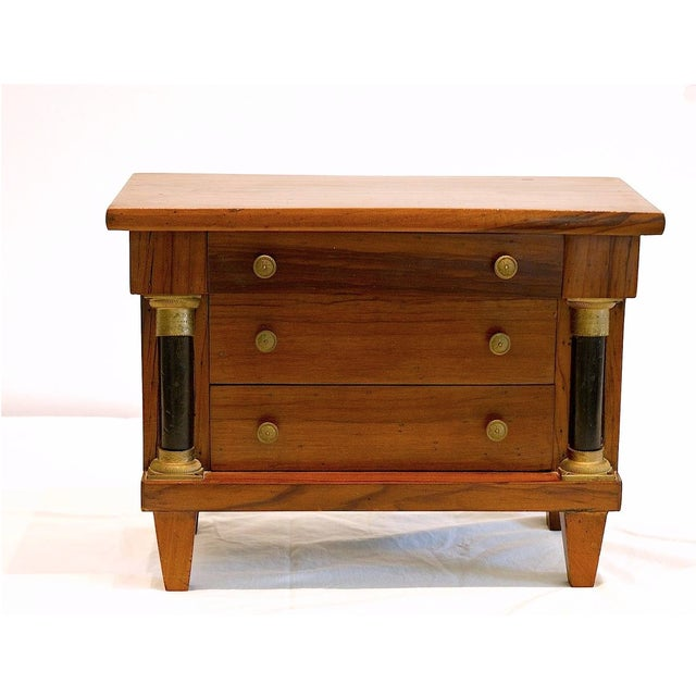 Italian Miniature Italian Neoclassical Tabletop Commode For Sale - Image 3 of 9