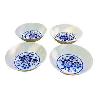 Mid-Century Modern Ben Seibel Blue and White Bowls - Set of 4 For Sale