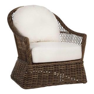 Summer Classics Soho Wicker Lounge Chair in Linen Snow