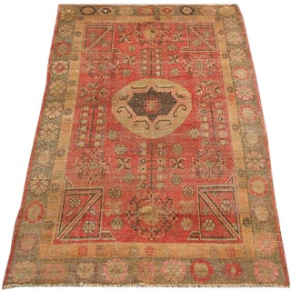 Early 20th Century Antique Khotan Handmade Rug - 5′1″ × 8′ - Size Cat. 5x8 6x9 For Sale