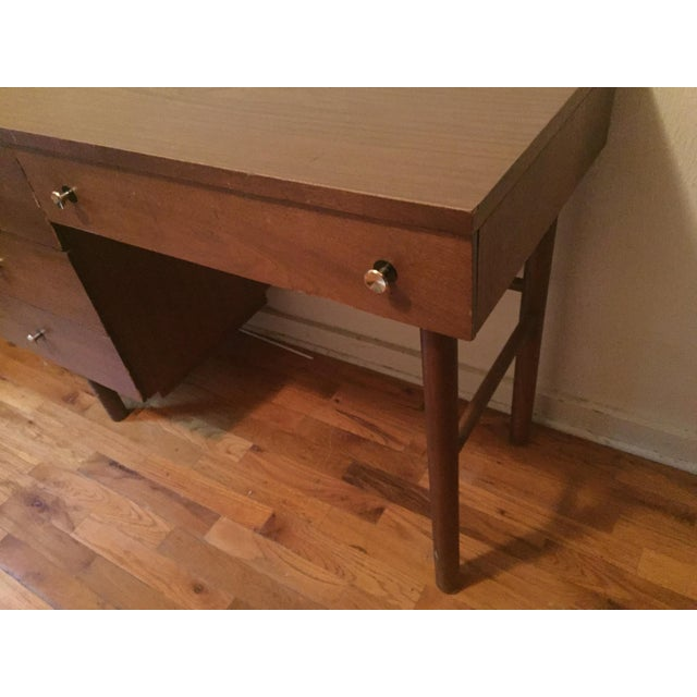 Stanley Furniture Stanley Mid-Century Modern Desk For Sale - Image 4 of 8