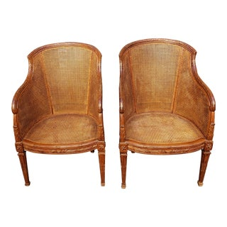 Circa 1730 Tuscano Caned Chairs For Sale