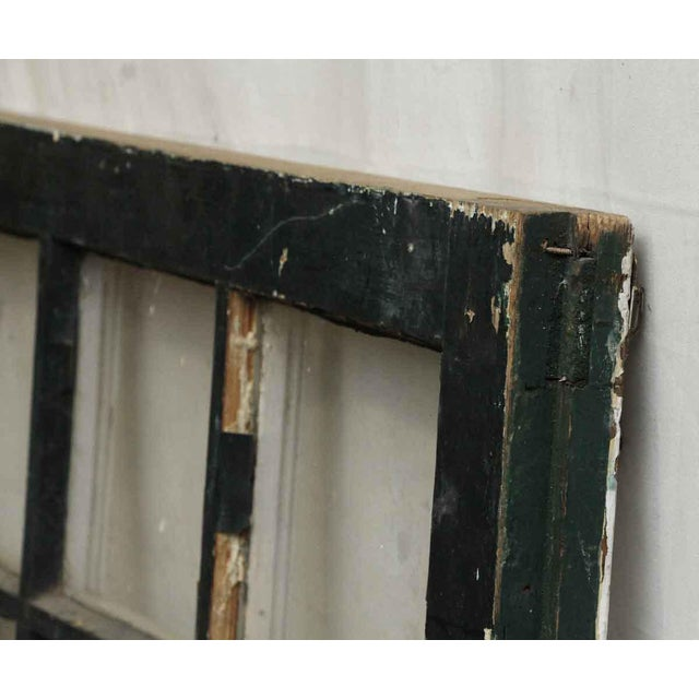 Shabby Chic Distressed 24-Panel Window For Sale - Image 3 of 6