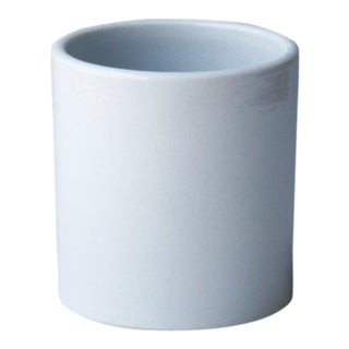 Small Matte White Orchid Pot