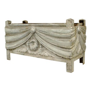 French Art Deco Large Rectangular Iron Jardinieres For Sale