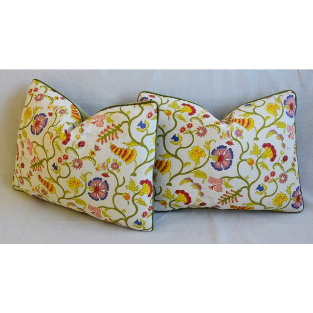 """Designer Floral Raoul & Scalamadre Mohair Pillows 23"""" X 16"""" - Pair For Sale - Image 9 of 13"""