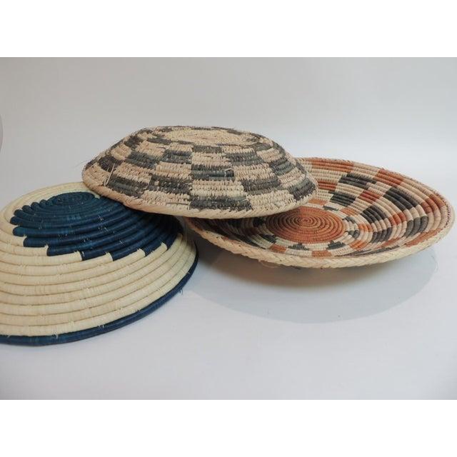 Vintage Tribal Colorful Round Baskets/Bowls - Set of 3 - Image 7 of 7