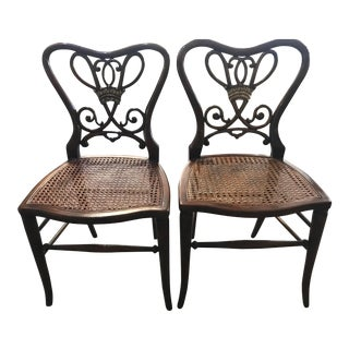 Theodore Alexander Prissy Sides Chairs - a Pair For Sale