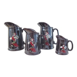 1950s Rooster Breakfast Pitchers - Set of 4 For Sale