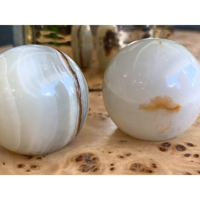 Onyx Finials - a Pair For Sale In West Palm - Image 6 of 8