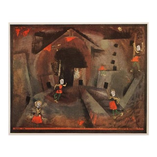 "1955 Paul Klee ""Dance of the Red Skirts"", First Edition Lithograph For Sale"