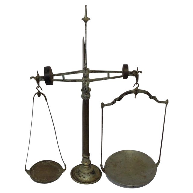 Antique French Industrial Butcher Scale - Image 1 of 8