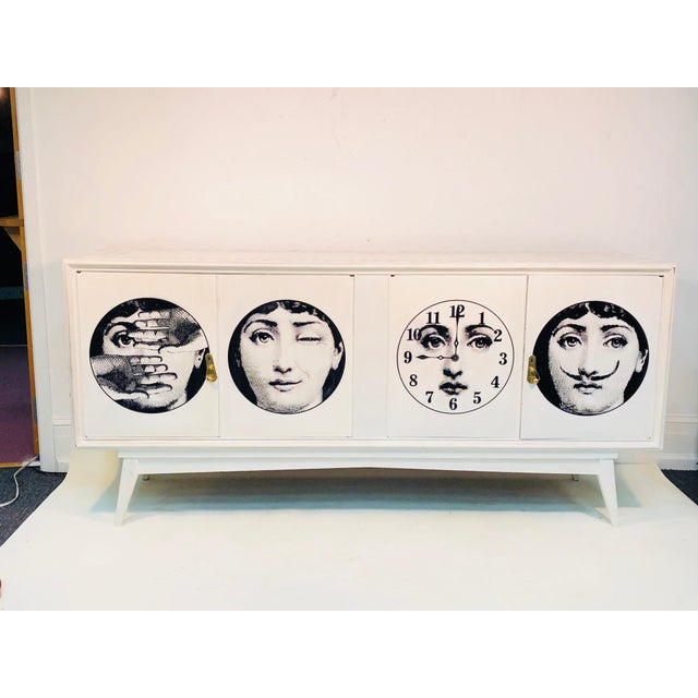 20th C. Italian Commode Cabinet in the Manner of Piero Fornasetti For Sale - Image 11 of 11